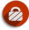 padlock web icon vector image