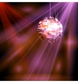 Party lights disco ball vector image
