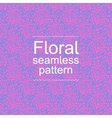 Pink-blue floral seamless pattern vector image