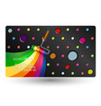 roller painting business card vector image vector image