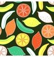 Seamless pattern of bananas and lemons vector image