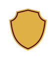 shield shape gold icon simple silhouette flat vector image vector image