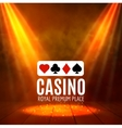 Shining Casino Banner Poster Show spotlight vector image vector image