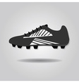 Single isolated soccer shoe close up icon vector image