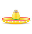 sombrero national mexican headdress vector image