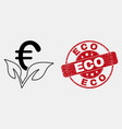 stroke euro startup sprout icon and vector image vector image