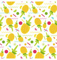 sweet pineapple seamless pattern vector image vector image