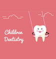 tooth swings on swing concept vector image