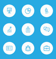 trade outline icons set collection of vector image vector image