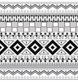 Tribal ethnic seamless patterns vector image