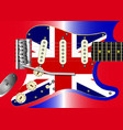 union jack guitar vector image vector image
