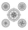 vintage marine navigation compasses in set vector image vector image