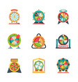 wheel fortune lucky circle symbols roulette vector image vector image