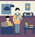 work at home concept freelance and telecommuting vector image vector image