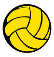 yellow volleyball ball icon icon cartoon vector image vector image