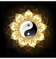 yin yang golden lotus vector image