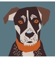 Dog flat head portrait vector image