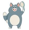Cat and its Comb vector image