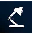 Reading lamp Single flat icon vector image