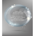 Abstract background with glass ball vector image