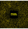 Abstract Pixel Yellow Bright Glow Background vector image vector image