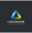 abstract triangle logo icon template vector image