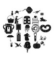 acquisition of knowledge icons set simple style vector image vector image
