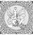 Adult coloring book page with fairy Pregnant lady vector image