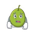 afraid olive mascot cartoon style vector image vector image