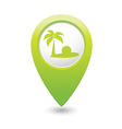 beach icon green map pointer2 vector image vector image