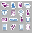 bedroom stickers vector image vector image