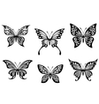 Black butterfly tattoos vector image