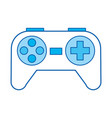 blue icon control game vector image vector image