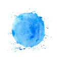 blue round watercolor texture vector image vector image