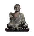 buddha statue from a splash watercolor colored vector image