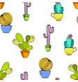 cactus background seamless pattern vector image
