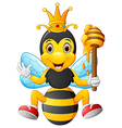 Cartoon bee holding honey