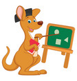 cartoon teacher kangaroo vector image