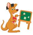 cartoon teacher kangaroo vector image vector image
