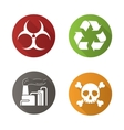 Chemical industry icons vector image vector image