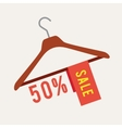 Clothes hanger with Sale vector image vector image
