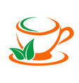 coffee and tea cups symbols logo coffee cup with vector image