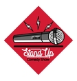 Color vintage Stand up comedy show emblem vector image vector image