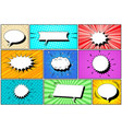 comic white speech bubbles collection vector image vector image
