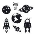 cosmos space set vector image