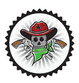 Cowboy skull With Pistols vector image vector image