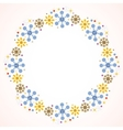 cute snowflakes Christmas frame vector image vector image