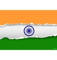 design flag india from torn papers with shadows vector image vector image