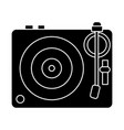 dj vinyl - turntable icon vector image