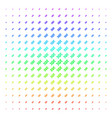 dna spiral icon halftone spectral pattern vector image